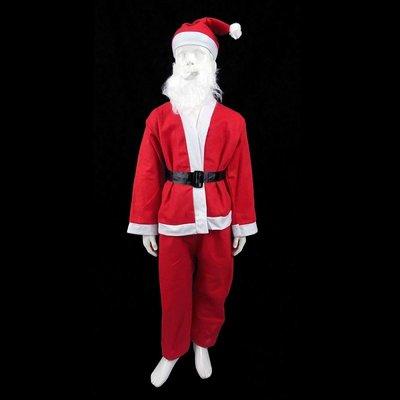 兒童聖誕服裝舞會變裝派對聖誕老人裝 不織布小男生聖誕衣-3種尺寸