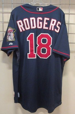MLB Minnesota Twins #18 Rodgers Game Issued Jersey  Size:48