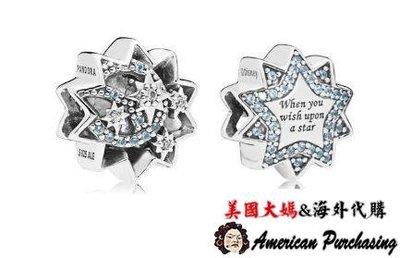 美國大媽代購 PANDORA 潘朵拉 迪士尼鑲鑽當你想要成為一位巨星串珠 925純銀 CHARMS 美國代購
