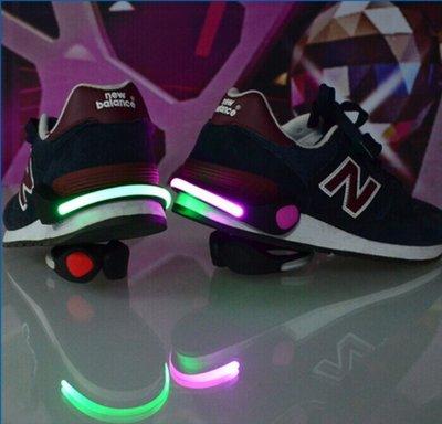 LED發光鞋夾 騎行發光警示燈 夾鞋燈 夜間運動跑步鞋夾燈騎行安全戶外爬山警示燈閃光鞋燈