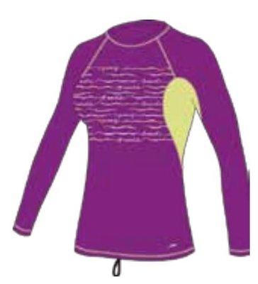 台灣潛水   Speedo   成人休閒長袖防曬衣Fashion Essentials 紫色 XL