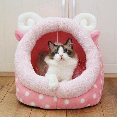 【興達生活】貓窩四季通用可拆洗貓咪窩貓屋封閉式貓睡袋小型犬狗窩寵物用品`17983