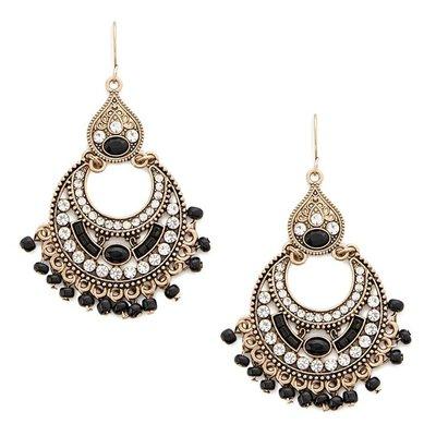 正品 FOREVER 21 beaded chandelier earrings