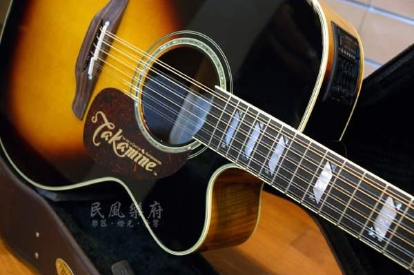 《民風樂府》日廠 TAKAMINE TF250SMC-12SB 12弦 JUMBO 楓木單板電木吉他 最後一把賠售出清