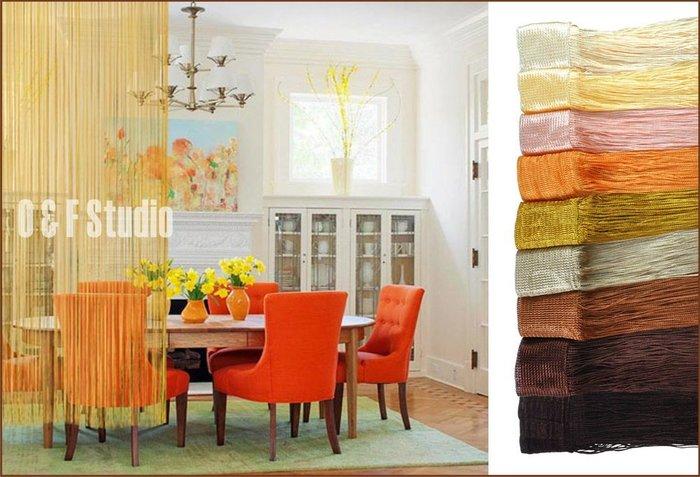 居家達人- 高密線簾 窗簾 門簾--100x200CM 多種顏色供選擇 居家 店面 民宿!!25色可供選擇