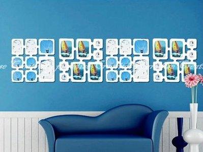 ☆精品社☆【照片牆壁貼】DIY吊掛式時尚相片裝飾像框壁貼藝術牆貼屏風