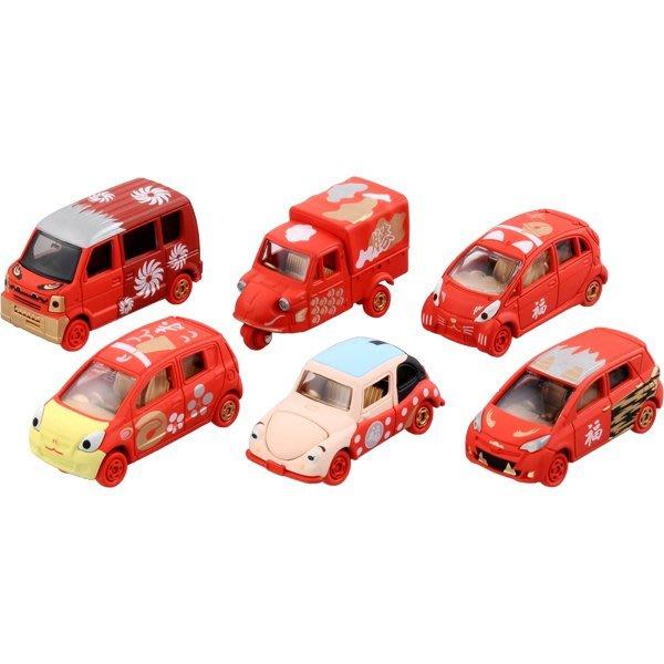 TOMICA 多美 迪士尼小汽車 2015 新年紅白車 (紅) 開運招福 中盒6入 (82122)