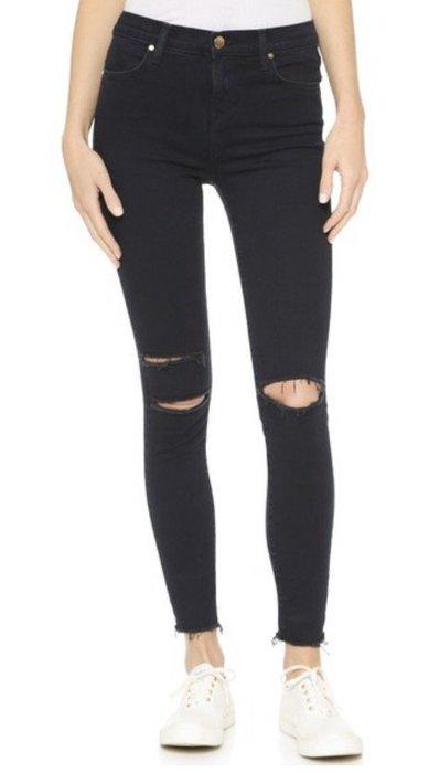 ◎美國代買◎J Brand High Rise Alana Crop Jeans雙膝刷破高腰包覆合身七分款牛仔褲