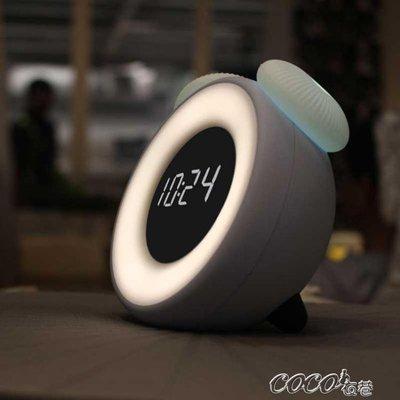 鬧鐘 小鬧鐘創意臥室床頭電子鐘智慧兒童可愛卡通充電鐘錶夜燈