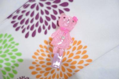 AC 韓國飾品 女童髮飾果凍小熊水鑽一字夾 鴨嘴夾 髮夾 邊夾 瀏海夾 現貨