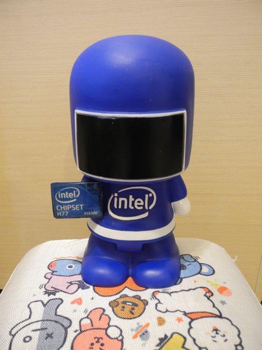 intel CHIPSET H77 可愛科技人 造型撲滿存錢筒 高23cm 底部有孔蓋 萊爾富運費半價