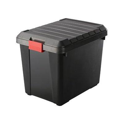 免運/6入組/KG65威寶深型整理箱/收納箱/置物箱/收納櫃/分類箱/附蓋65L/工業風/LOFT/黑色收納箱