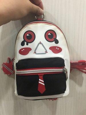 「Q仔店舖」7-11 MAISON PROMAX 壞蛋肩背包 愛哭鬼米洛-Clown小丑 (紅) 現貨