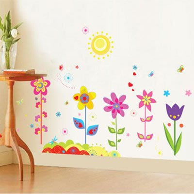 創意壁貼-彩色花朵 AY708-921【AF01013-921】JC雜貨