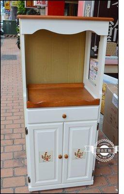 白色雙色實木磁磚雙門二尺電器櫃微波爐櫃...