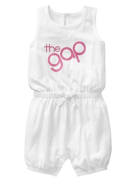 【BJ.GO】美國GAP_Logo one-piece 經典LOGO連身裝/兔裝 現貨6-12M