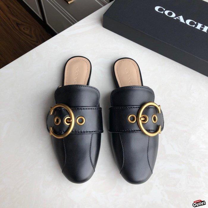 【全球購.COM】COACH 寇馳 2020新款 懶人鞋 黑色 百搭休閒鞋  時尚精品 美國連線代購