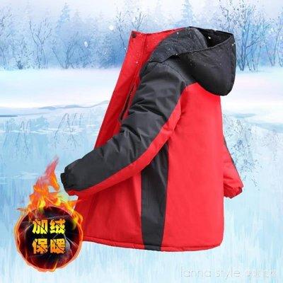 冬季沖鋒衣男加絨加厚潮棉衣戶外冰庫服抗寒保暖冷庫服抓絨防寒衣 年終大促