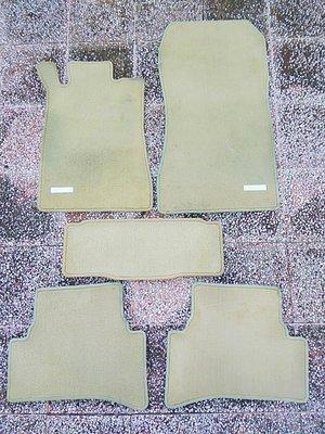 賓士 w202 原廠德國製 絨毛腳踏墊 地毯 五件式 c180 c220 c240 c230 c280 c200 德祥行