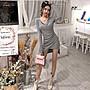 ❤Princess x Shop❤V領不規則修身包臀裙DL910085正韓國連線寬褲洋裝一字領露肩秋