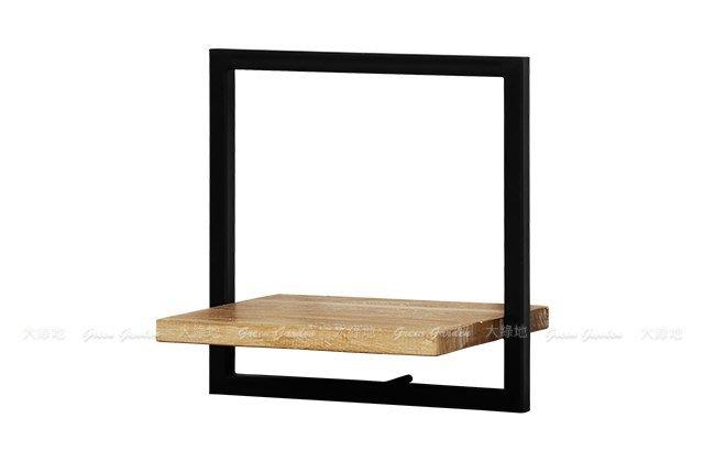 柚木鐵件 日字組合壁架B(W35)【大綠地家具】100%印尼柚木實木/工業風/置物架/DIY組裝