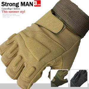 【推薦+】軍迷戶外休閒健身手套E006-0012運動手套半指露指手套.防滑手套.自行車手套哪裡買