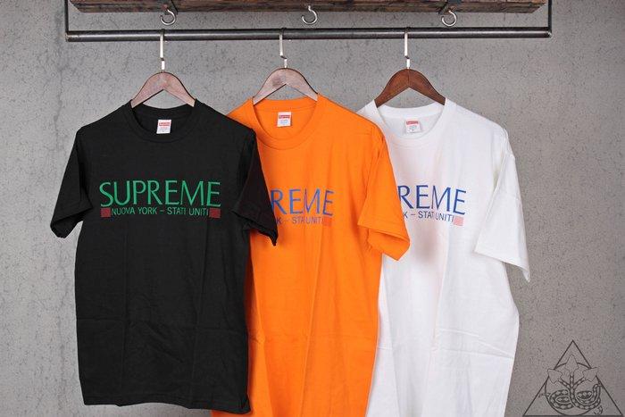 【HYDRA】Supreme Nuova York Tee 字體 短T【SUP441】