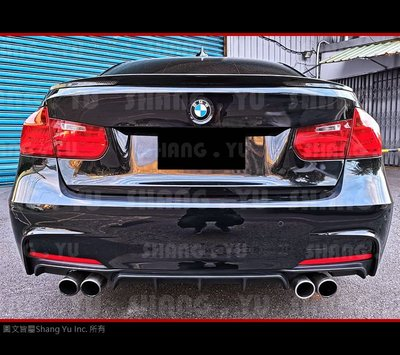 BMW F30 F31 MTECH 專用 雙邊雙出 後下巴 316I 318I 320I 328I 330I 335I