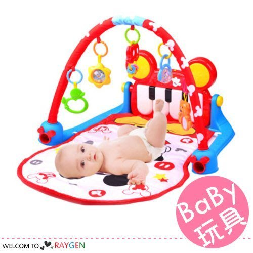八號倉庫 迪士尼正版授權米奇嬰幼兒多功能鋼琴健身架 音樂玩具【1A010M510】