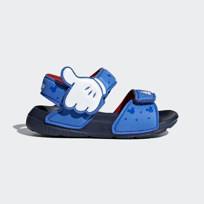 奇星 ADIDAS 輕量 透氣 舒適 深藍色 米奇 迪士尼 小童涼鞋 #CQ0107