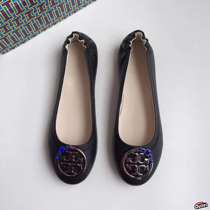 【全球購.COM】TORY BURCH TB 2019新款高跟鞋 黑色 休閒鞋 娃娃鞋美國Outlet代購