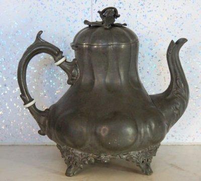 230 高級英國維多利亞不列顛壺Antique Silver Plate Tea Pot