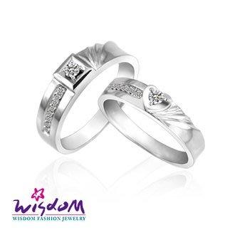 威世登 天然鑽石《心動系列》閃耀摯愛 女戒- 韓風設計、情人節、生日、網友狂推熱銷款-JDA03240G-BABXX