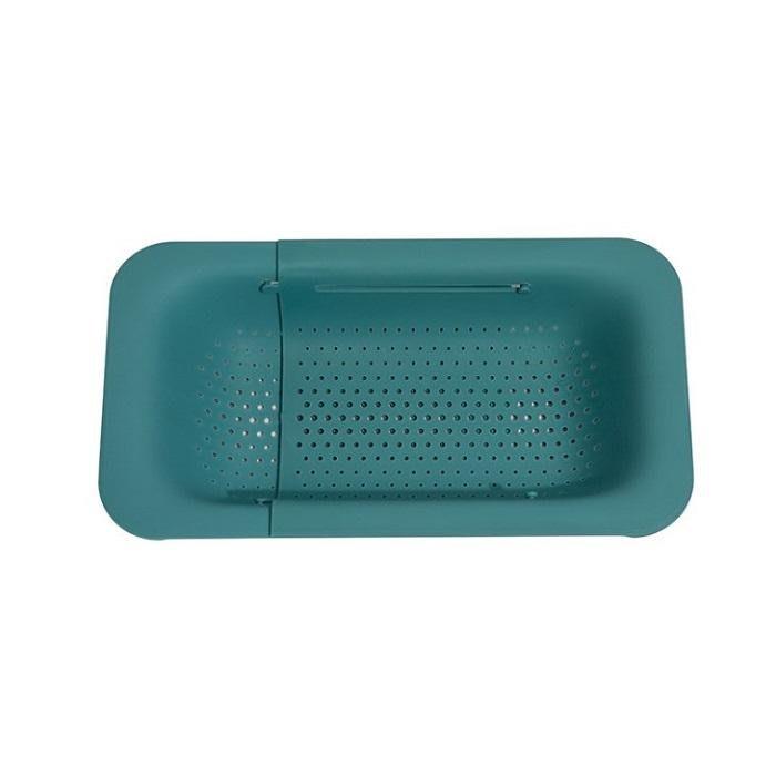 廚房好物瀝水籃水槽架可伸縮塑料洗菜盆水池瀝水架廚房用品水槽洗菜籃【BB】