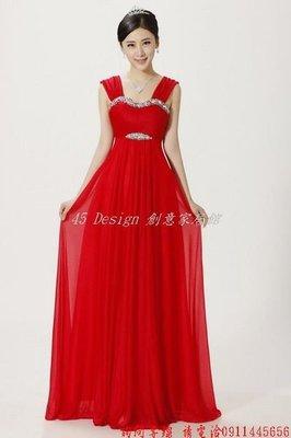 定做  7天到貨  2014新款婚紗禮服新娘結婚敬酒服雙肩紅色韓版抹胸長款伴娘晚禮服