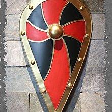 中世紀複古金屬鐵制盾牌歐式壁飾複古盔甲酒吧咖啡西餐廳家居掛飾