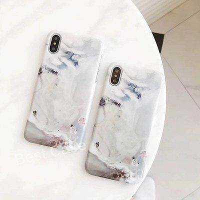 IPhone X 8 7 6 PLUS IX I7 I8 I6S 大理石 紋路 水彩 清新 簡約 手機 殼 保護套 硬殼