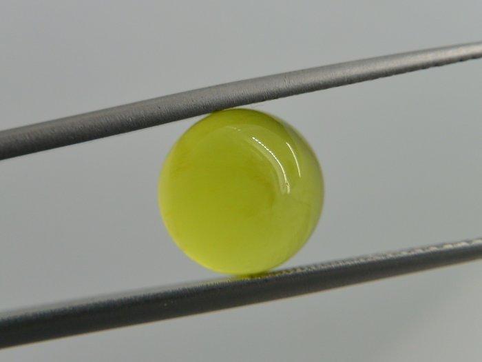 《葡萄石專區》《裸石》天然黃金色圓型 葡萄石(prehnite)裸石 蛋面 戒面 4.45CT
