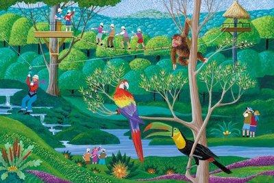 特價出清*美國進口 MEGA Hometown Collection Rainforest 熱帶雨林 Harry Wysocki 1000片拼圖 300 500