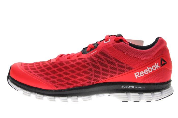 55折零碼出清【千里之行】reebok SUBLITE SUPER DUO超輕避震健身房慢跑鞋-螢光桃紅