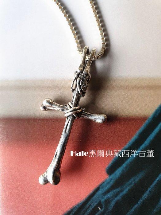 黑爾典藏西洋古董 ~ 純925銀 骷髏手握十字 精緻骨頭銀墜 ~Vintage古著日本復古市集