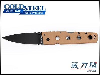 《藏刀閣》COLD STEEL-(HOLD OUT II)狼棕色G10柄CTS-XHP鋼中折刀(黑平刃)