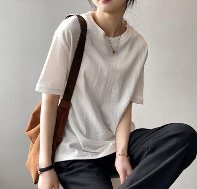 YOHO 短袖上衣 (YS591) 實拍春夏寬鬆純棉短袖T恤 棉T 有5色