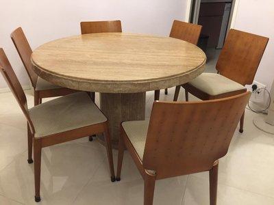 歐化雲石餐枱 Dining Table (不連餐椅)