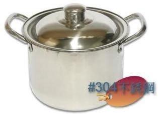 ..㊣#304不銹鋼湯鍋36cm〞高款湯鍋/大型湯鍋/不鏽鋼高鍋/不鏽鋼鍋/白鐵高鍋/調理鍋/滷鍋/燉鍋/雙耳湯鍋-現貨