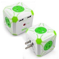 {阿治嬤} MIG 明家 Mini魔方 3孔四插+雙USB埠 電源擴充插座 WS-408U2 充電 延長線 台北市