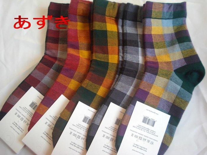 韓國直送-格紋系列- [男女通用款襪]5入裝  [特價199] 顏色隨機