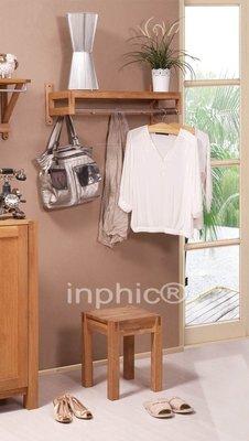 INPHIC-北歐簡約風格實木橡木傢俱 4鉤直杆衣帽架