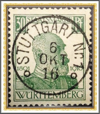 【天天168•特價專案】【牟根古郵-180828-EUROP】1916年代 德意志 威廉二世 30Pf