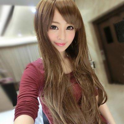超長可愛妹妹頭微卷浪漫長髮~高仿真超自然整頂假髮【MA111】☆雙兒網☆